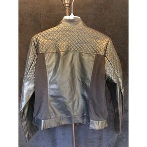 Roz & Ali Jackets & Coats - FAUX BLACK LEATHER JACKET